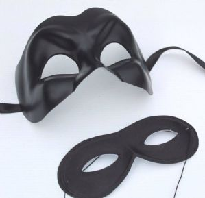 His and Hers Black Masquerade Masks - Glamour Masquerade Masks | Masks and Tiaras